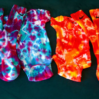 Mommy & Baby Or Daddy and Baby Custom Matching Tie Dye set, Custom Tie Dye Onesuit, Custom Tie Dye Nike Socks, Custom Baby Clothing, Gift