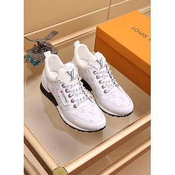 lv louis vuitton men fashion boots fashionable casual leather breathable sneakers running shoes 1014