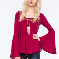 Others Follow French Womens Blouse Red  In Sizes
