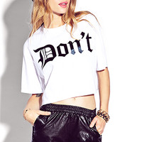 No Hate Cropped Tee