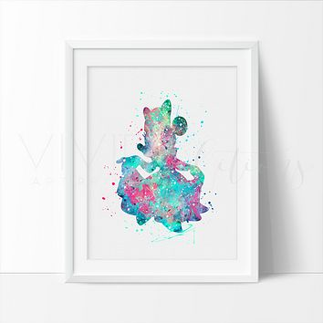 Minnie Mouse 3 Watercolor Art Print