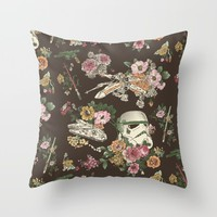 Botanic Wars Throw Pillow by Josh Ln | Society6