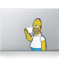 Simpson Cartoon For Mac Sticker For Macbook 13 11 15 Pro Air Laptop Notebook Cover Skin For Macbook Pro Decal Air Vinyl Notebook