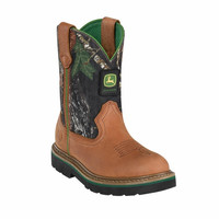 John Deere Youth Kid's Camo Johnny Popper Boots