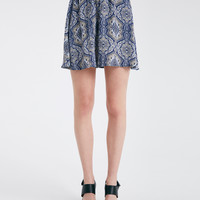 Printed Challis Skater Skirt | Wet Seal