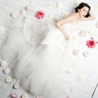 Swan Song - Romantic Silk Organza and Tulle Wedding Gown