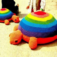 Crochet TOY Pattern Vintage 70s Crochet TORTOISE Stuffed Animal Crochet Baby Toy Pattern Crochet TURTLE Pattern Crochet Floor Pillow Pattern