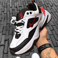 Nike Air Monarch 4 M2K Tekno Women's Shoes Running Retro old Sneakers White( small red hook)