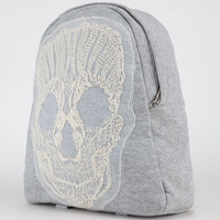Embroidered Skull Backpack Grey One Size For Women 21488611501