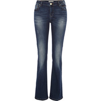 River Island Womens Mid wash Alice kick flare jeans