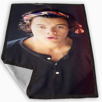 One Direction Harry Styles Bandana Blanket for Kids Blanket, Fleece Blanket Cute and Awesome Blanket for your bedding, Blanket fleece **