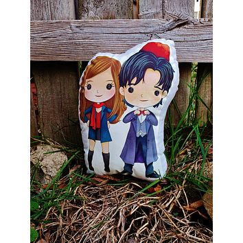 11 and Amy Doctor Who Double Pillow Pal.