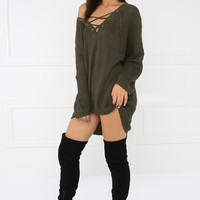 For The Cozy Sweater - Olive