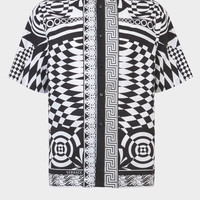 Versace Optillusion Print Silk Shirt for Men | US Online Store
