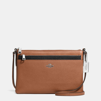 SWINGPACKwith pop-up pouchin embossed textured leather