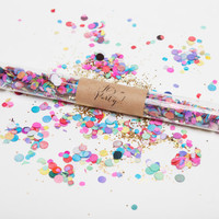 colorful confetti wands