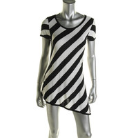INC Womens Knit Striped Pullover Top