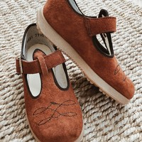 Vintage 1960's Suede Mary Janes | Kids Size 6.5