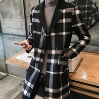 Men's Single Breasted Trench Coat