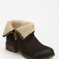 Ecote Fuzzy Fold-Over Ankle Boot - Urban Outfitters