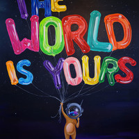 World Is Yours - Rolled Canvas Print (Back-order) – SUE TSAI