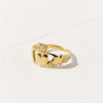 Diament Jewelry Vintage 14K Gold Claddagh Ring - Urban Outfitters
