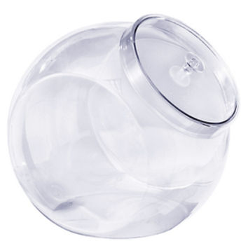 Clear Plastic Round 80-Ounce Container with Lid