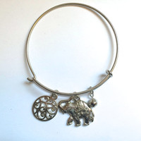 Elephant Bangle *Alex and Ani Inspired* *PRE-ORDER*