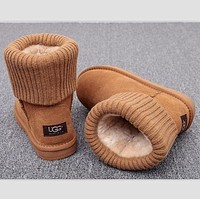 UGG Boots Women Boots Winter Warm Fashion Thread curl boots Brown