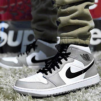 NIKE Air Jordan 1 AJ1 new product stitching color men's and women's low-top sneakers casual shoes Gray