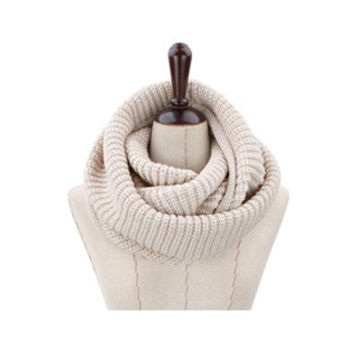 Arionna Wool Knitted Scarf Oatmeal