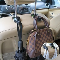 Evelots Car Headrest Seat Hooks-Purse/Grocery Bag-Super Strong Rubber Grip-Set/4
