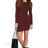 Comeback Baby Burgundy Dress