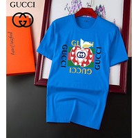 GG red and green stripes double G letter round neck short-sleeved T-shirt