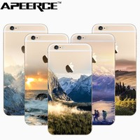 Natural Scenery Series Phone Case For iphone 6 6s 6plus 7 7plus Translucent Silicone TPU Soft back cover case for iphone 5 5s se