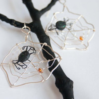 Wire, Recycled Glass, Clay, and Aspen Leaf Jewelry by HopeFilledJewelry