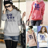 Womens Winter Long Sleeve Casual Warm Hoodie Sweater Jacket Coats Outerwear SV006136