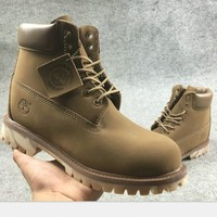 Timberland Fashion Winter Waterproof Boots Martin Leather Boots Shoes Khaki H-AA-SDDSL-KHZHXMKH