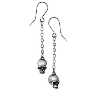 Alchemy Gothic Deadskull Hanging Earrings