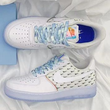 NIKE Air force 1 af1 men's and women's letter printed logo low-top sneakers Shoes