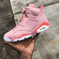 Air Jordan 6 Retro Pink Trending Women Sport Running Basketball Shoes Sneakers