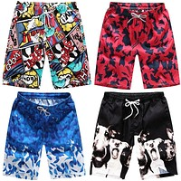 Casual Shorts Men Printed Beach Shorts Mens Quick Dry Board Shorts For Men Beachwear Short Pants Men Clothing