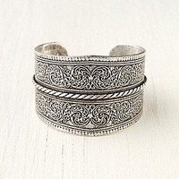 Silver Twist Detail Cuff at Free People Clothing Boutique