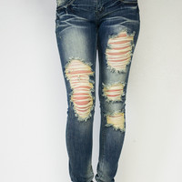Desirable Denim Destroyed Skinny Jeans
