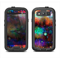 The Neon Paint Mixtured Surface Samsung Galaxy S3 LifeProof Fre Case Skin Set