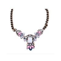 Pretty in Pink Water Drop Pendant Necklace
