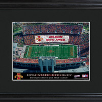 College Stadium Print with Wood Frame - Iowa State