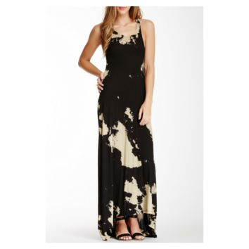 Go Couture Tie-Dye Hi-Lo Maxi Dress, Size S