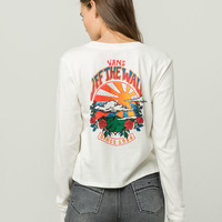 VANS Born To Roam Womens Crop Tee