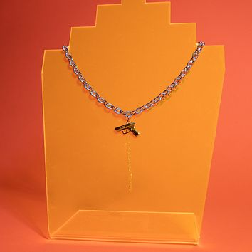 Duotone Mini Gun Necklace